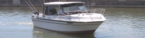This is the boat you will fish from in lake ontario at newcastle marina near Cobourg
