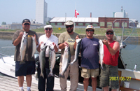 The guys had a great June fishing trip out of Newcastle marina this year